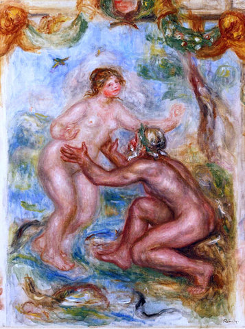 "Pierre Auguste Renoir Study for ""The Saone Embraced by the Rhone"" - Hand Painted Oil Painting"