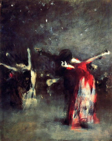 John Singer Sargent Study for 'The Spanish Dance' - Hand Painted Oil Painting