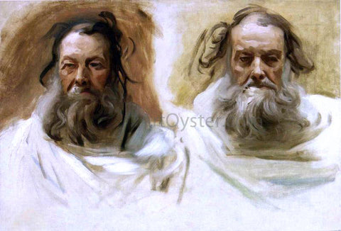 "John Singer Sargent Study for Two Heads for Boston Mural ""The Prophets"" - Hand Painted Oil Painting"