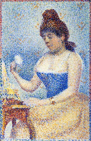 Georges Seurat Study for 'Young Woman Powdering Herself' - Hand Painted Oil Painting