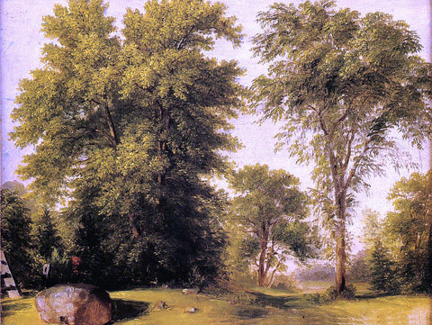 Asher Brown Durand Study from Nature, Rocks and Trees - Hand Painted Oil Painting