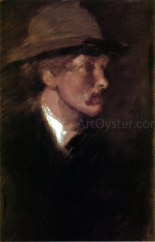 James McNeill Whistler Study of a Head - Hand Painted Oil Painting