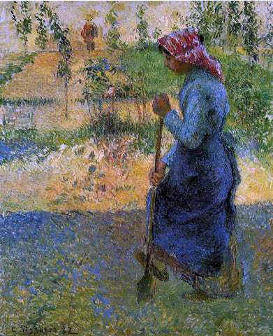 Camille Pissarro Study of a Peasant in Open Air (also known as Peasant Digging) - Hand Painted Oil Painting