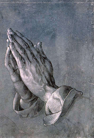 Albrecht Durer Study of an Apostle's Hands (Praying Hands) - Hand Painted Oil Painting