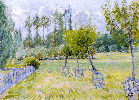 Camille Pissarro Study of Apple Trees at Eragny - Hand Painted Oil Painting