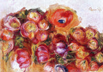 Pierre Auguste Renoir Study of Flowers - Anemones and Tulips - Hand Painted Oil Painting