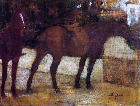 Edgar Degas Study of Horses - Hand Painted Oil Painting