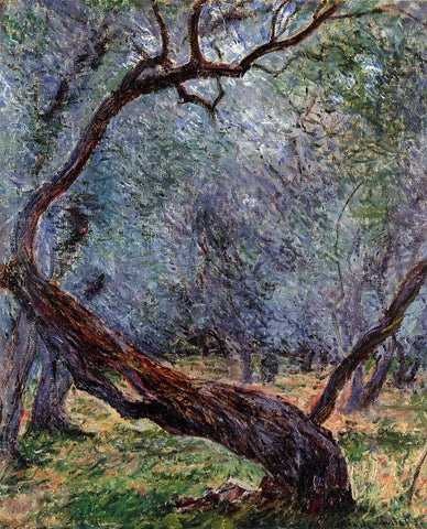Claude Oscar Monet Study of Olive Trees - Hand Painted Oil Painting