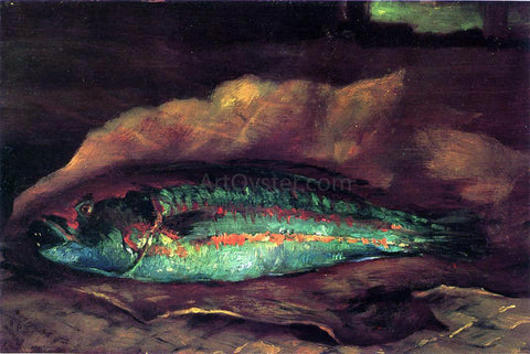 John La Farge Study of the Parrot Fish - Hand Painted Oil Painting