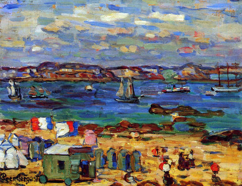 Maurice Prendergast Study, St. Malo, No. 12 - Hand Painted Oil Painting