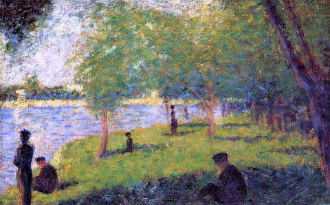 Georges Seurat Study with Figures - Hand Painted Oil Painting