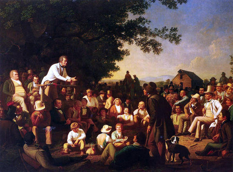 George Caleb Bingham Stump Speaking - Hand Painted Oil Painting