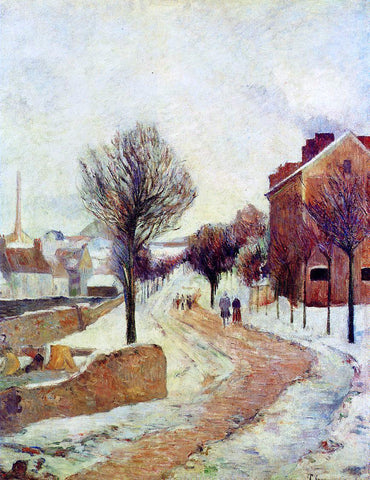 Paul Gauguin Suburb under Snow - Hand Painted Oil Painting