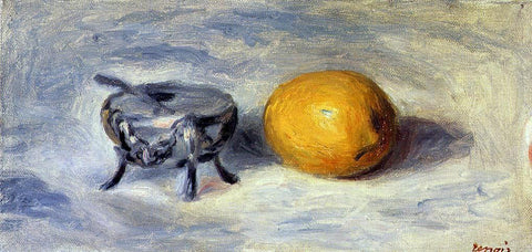 Pierre Auguste Renoir Sugar Bowl and Lemon - Hand Painted Oil Painting