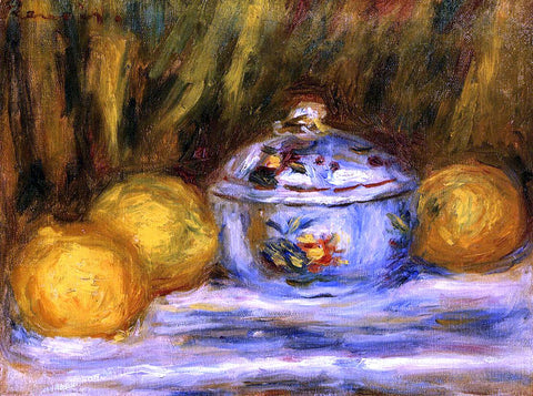 Pierre Auguste Renoir Sugar Bowl and Lemons - Hand Painted Oil Painting