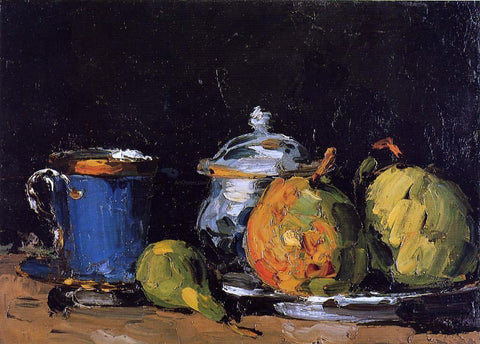 Paul Cezanne Sugar Bowl, Pears and Blue Cup - Hand Painted Oil Painting