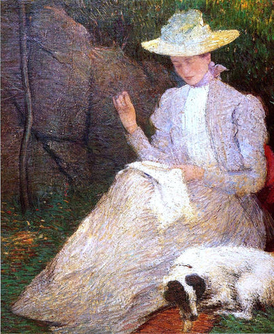 Julian Alden Weir Summer (also known as Friends) - Hand Painted Oil Painting