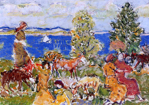 Maurice Prendergast Summer Afternoon - Hand Painted Oil Painting