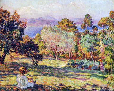 Henri Lebasque Summer Afternoon at Frejus - Hand Painted Oil Painting