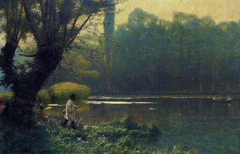 Jean-Leon Gerome Summer Afternoon on a Lake - Hand Painted Oil Painting