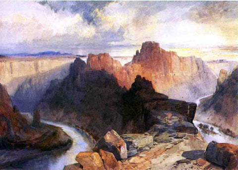 Thomas Moran Summer, Amphitheatre, Colorado River, Utah Territory - Hand Painted Oil Painting
