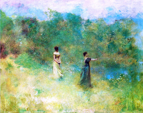 Thomas Wilmer Dewing Summer - Hand Painted Oil Painting