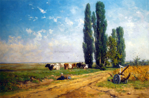 Willem Roelofs Summer Between Hilversum and Loosdrecht - Hand Painted Oil Painting