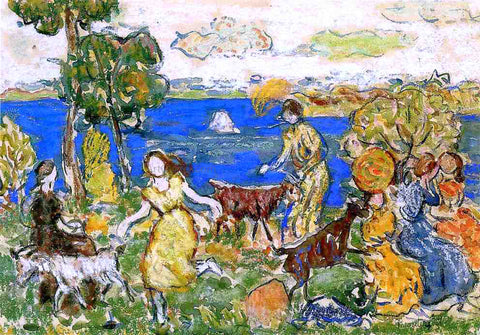 Maurice Prendergast Summer Day (also known as St. Cloud) - Hand Painted Oil Painting