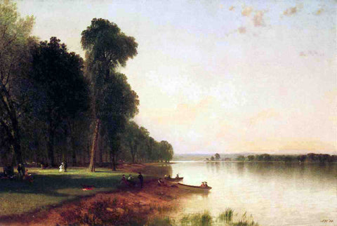 John Frederick Kensett Summer Day on Conesus Lake - Hand Painted Oil Painting
