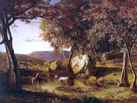 George Inness Summer Days - Hand Painted Oil Painting