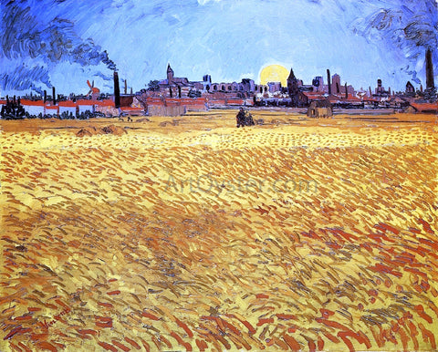 Vincent Van Gogh Summer Evening, Wheatfield with Setting Sun - Hand Painted Oil Painting