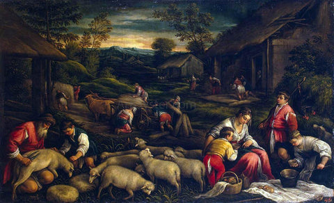 Francesco Bassano Summer - Hand Painted Oil Painting