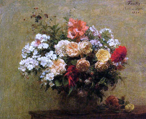Henri Fantin-Latour Summer Flowers - Hand Painted Oil Painting