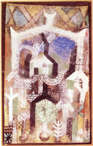 Paul Klee Summer Houses - Hand Painted Oil Painting