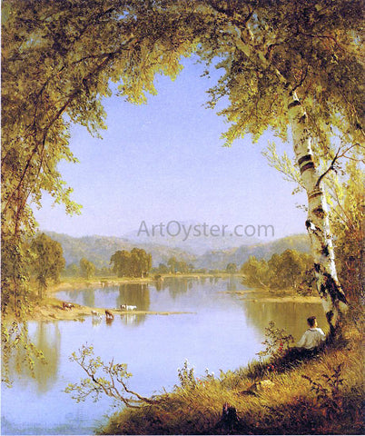 Sanford Robinson Gifford Summer Idyll - Hand Painted Oil Painting