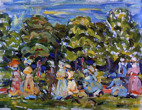 Maurice Prendergast Summer in the Park - Hand Painted Oil Painting