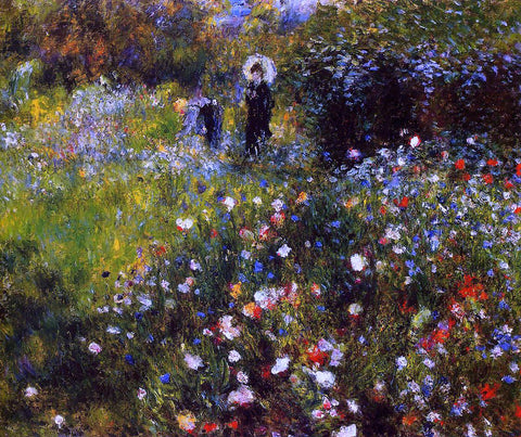 Pierre Auguste Renoir A Summer Landscape (also known as Woman with a Parasol in a Garden) - Hand Painted Oil Painting