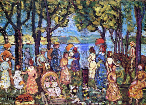 Maurice Prendergast Summer, New England - Hand Painted Oil Painting