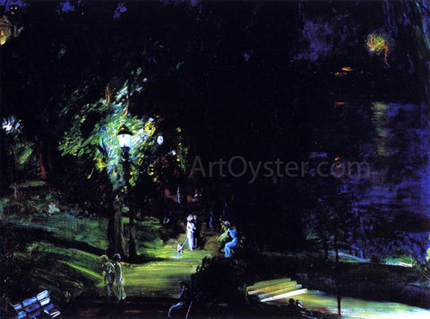 George Wesley Bellows Summer Night, Riverside Drive - Hand Painted Oil Painting