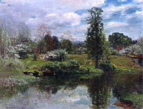 John Joseph Enneking Summer on the Lake - Hand Painted Oil Painting