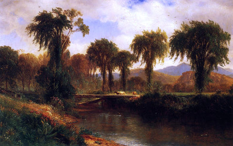 Jr. Samuel Colman Summer on the Saco, Conway Valley - Hand Painted Oil Painting