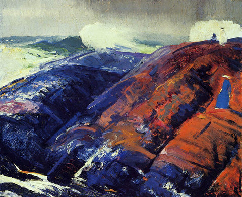 George Wesley Bellows Summer Surf - Hand Painted Oil Painting