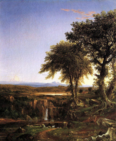 Thomas Cole Summer Twilight - Hand Painted Oil Painting