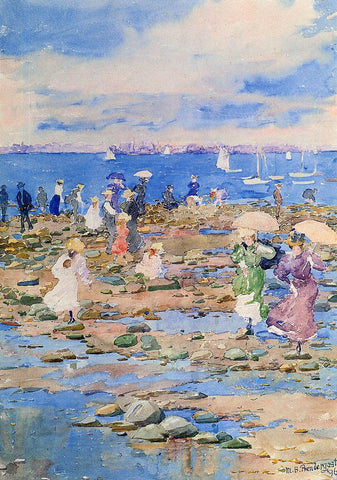 Maurice Prendergast Summer Visitors - Hand Painted Oil Painting