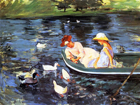 Mary Cassatt Summertime - Hand Painted Oil Painting