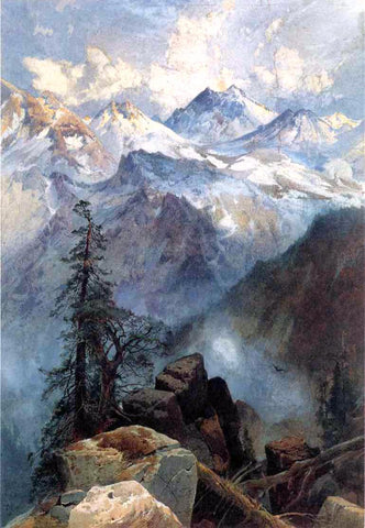 Thomas Moran A Summit of the Sierras - Hand Painted Oil Painting