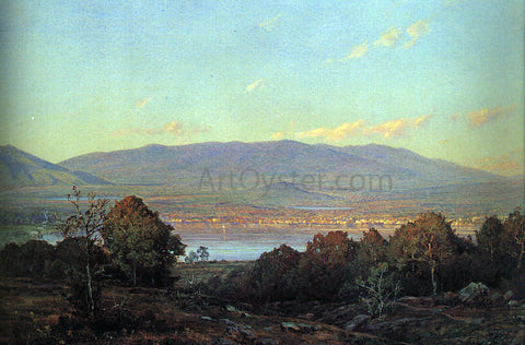 William Trost Richards Sundown at Centre Harbour, New Hampshire - Hand Painted Oil Painting
