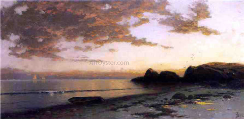 Alfred Thompson Bricher Sundown, Seconnett - Hand Painted Oil Painting