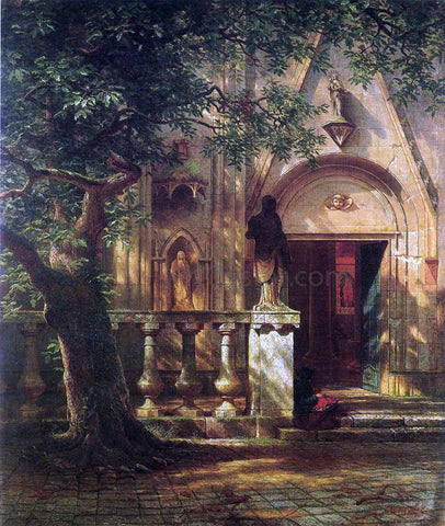 Albert Bierstadt Sunlight and Shadow - Hand Painted Oil Painting