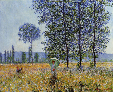Claude Oscar Monet Sunlight Effect Under the Poplars - Hand Painted Oil Painting